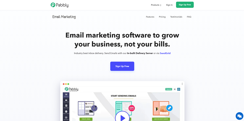 site Pabbly Email Marketing
