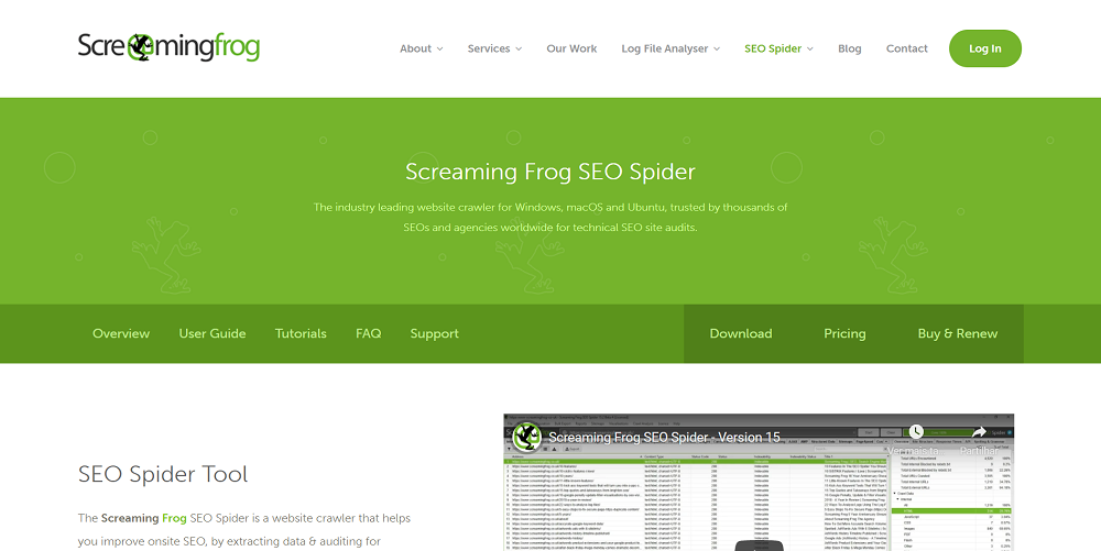 site screaming frog SEO Spider